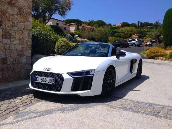 Rent Car Sport Car Audi R8 Spyder V10 Plus Calvi Sun One
